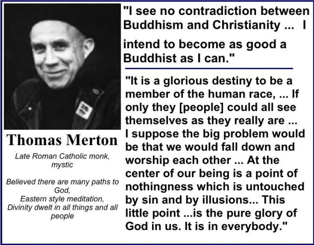 thomas-merton no contradiction buddhisn and christianity