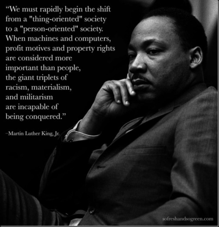 MLK materialism quote