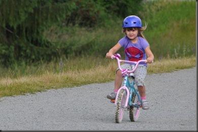 Emma riding a bicyle!