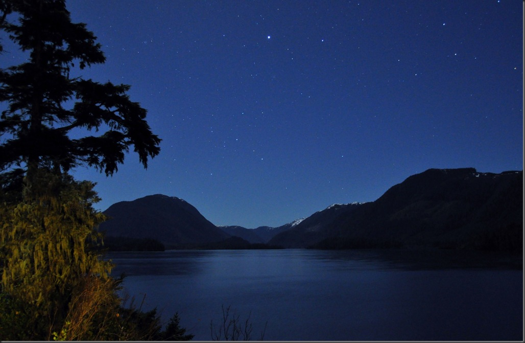 Starry nihgt over a Northern Vancouver Island lake