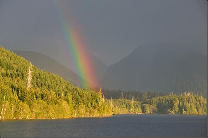 The light never lies - rainbow on the lake