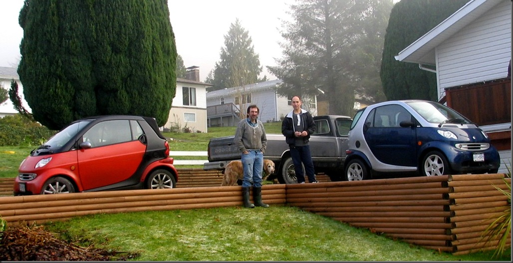 Bruce & Mike with their smart cars