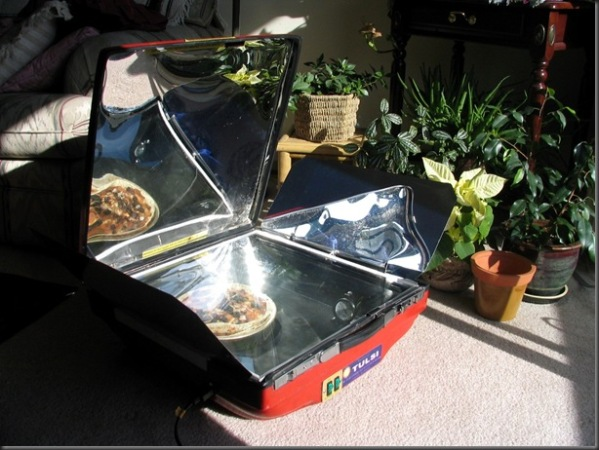Hybrid solar electric cooker