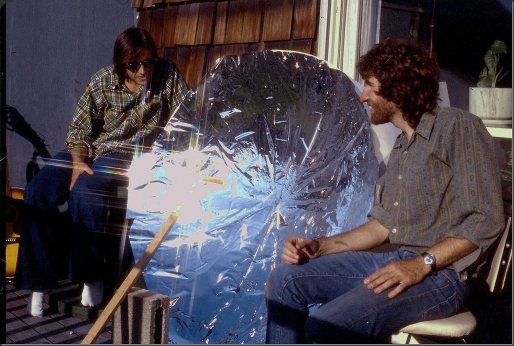 Solar parabolic cooker 1979
