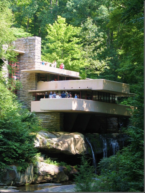 Fallingwater cantilevered over Bear Run
