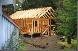 Guest cabin under construction