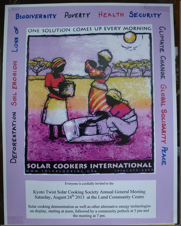 kyoto Twist Solar Cooking Society Annual General Meeting