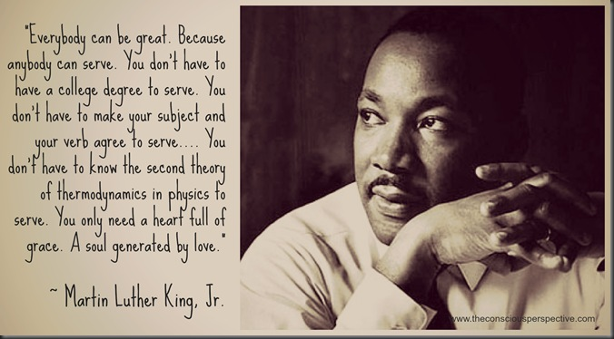 MLKJrQuote abour service