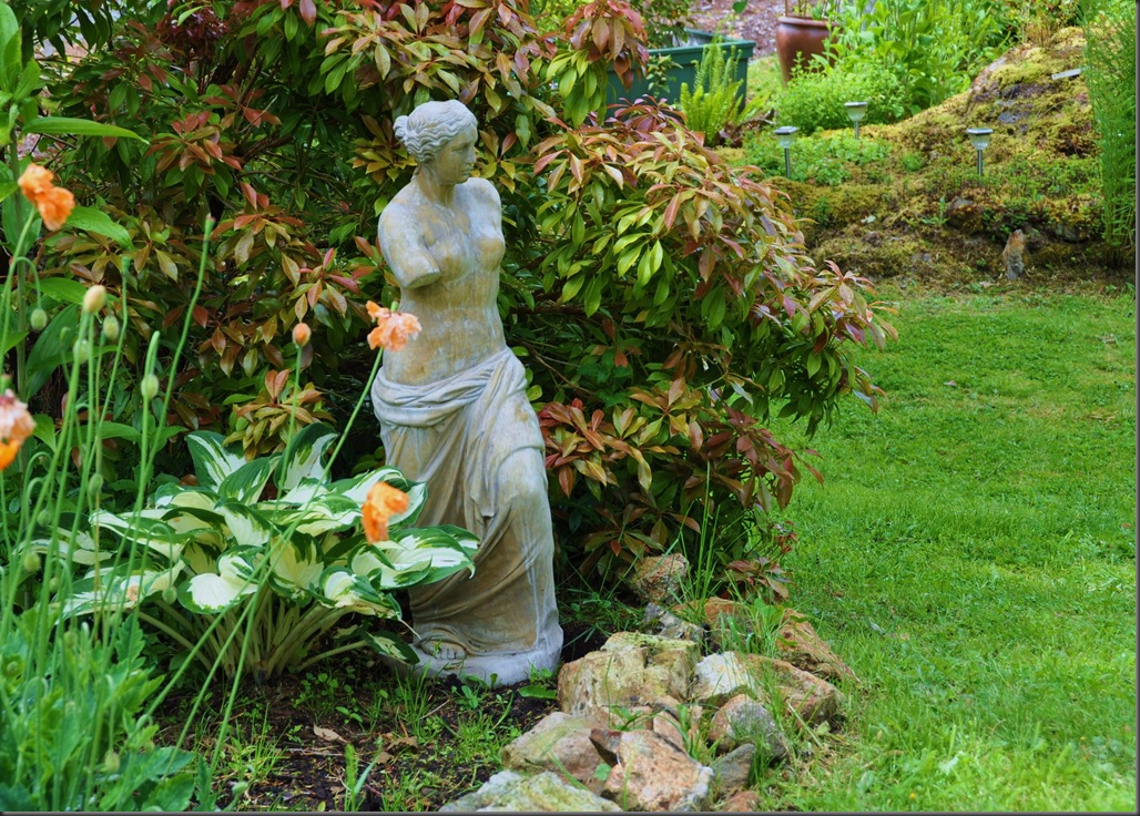 Our garden and Venus de Milo