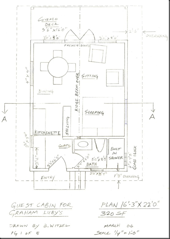 Plan View of Guest Cabin