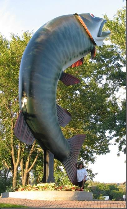 Statue in Kenora Ontario