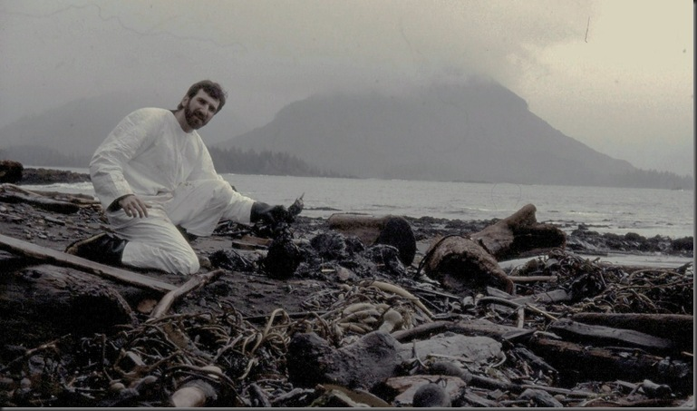 Bruce at the Nestucca Oilspill in 1988 Vancouver Island BC