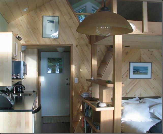Guest cabin kitchen & loft access