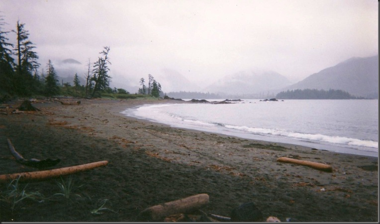 scanned photos 1988 - Side bay northern vancouver island after the Nestucca  oil spill