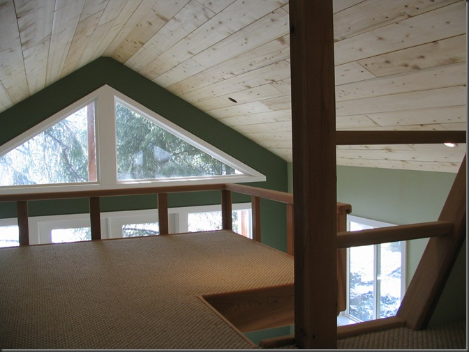 Upper loft  ready for beds