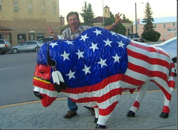 Statue entitled American Bull - Custer City South Dakota