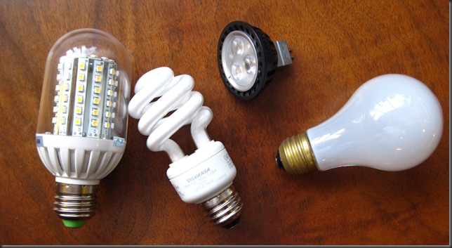 Energy efficient lightbulbs vs. incandescent bulb