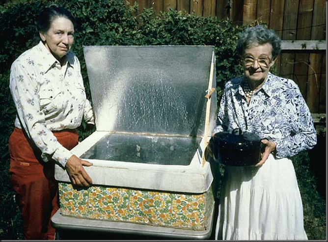 Mrs. Barbara Kerr and Mrs. Sherry Cole, early solar box cooker innventors & promoters