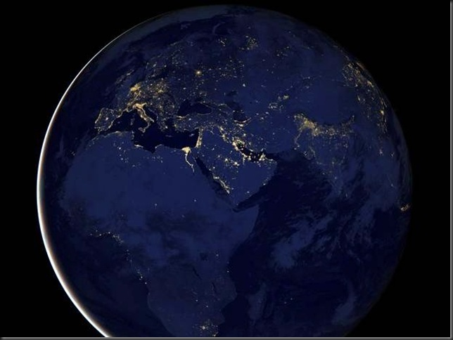Nasa image - Europe, Asia, & Afica at Night