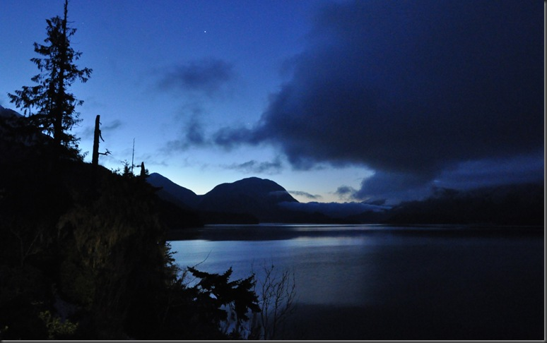 View of the lake in early dawn