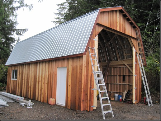 Boatshed near completion