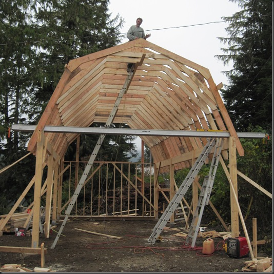 Bracing the trusses