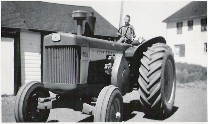 Bruce & tractor