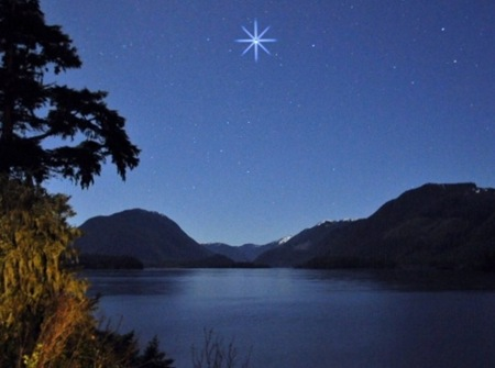 Star over Victoria Lake