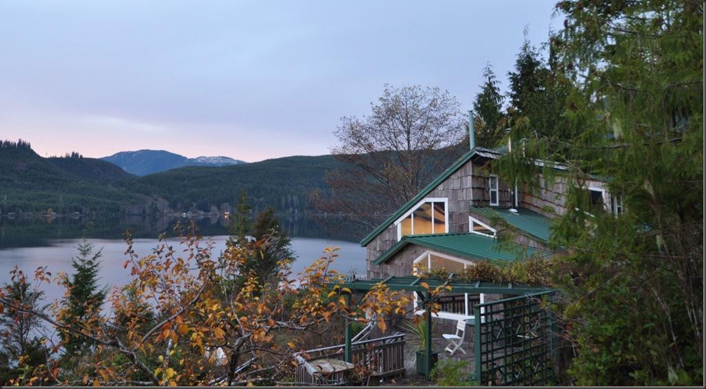 The cabin at dawn