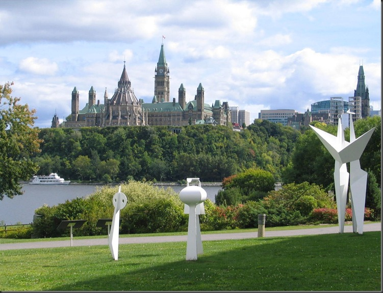 Canada's Parliament across the Ottawa River