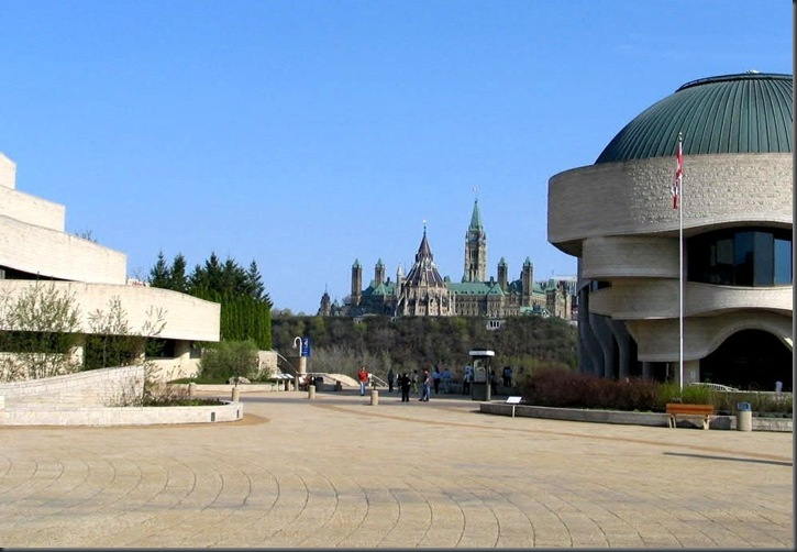 Canada's parliament and the Museum of Civilization in 2009