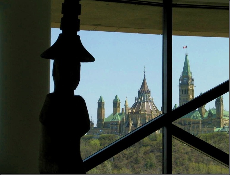 Canada's Parliament as seen from the Museum of Civilization (and History)