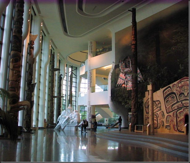 Grand Hall with First Nations Totems