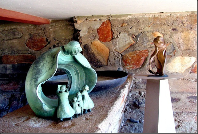 Statue, mother and childen -Taliesin West - by Bruce Witzel