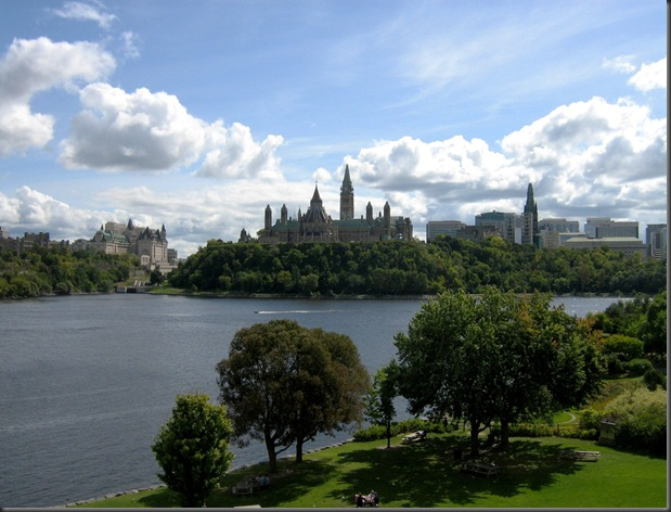 The Otttawa River and  the Parliament Buildings in Canada's Capital, Ottawa