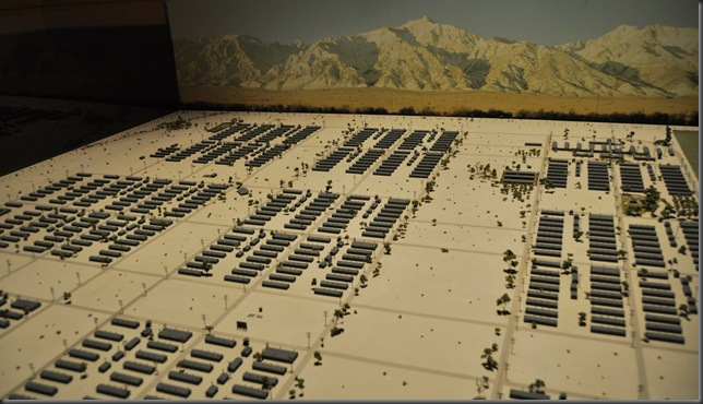 Model of Manzanar Internment Camp in California's Owen Valley