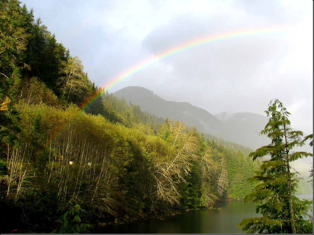 Rainbow across the inlet - Vancouver Island,BC - by Bruce Witzel