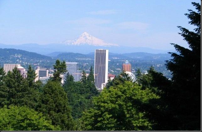 Looking towards downtown Portland, Oregon - photo by bruce Witzel