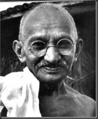 Mahatma Gandhi - photo source unknown