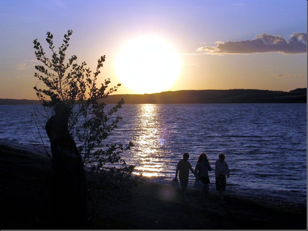 Sunset on Lake Manitou, Saskatchewan
