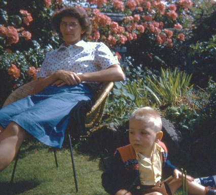 Mom and Bruce - 1960 photo by my Aunt Edith Fisher