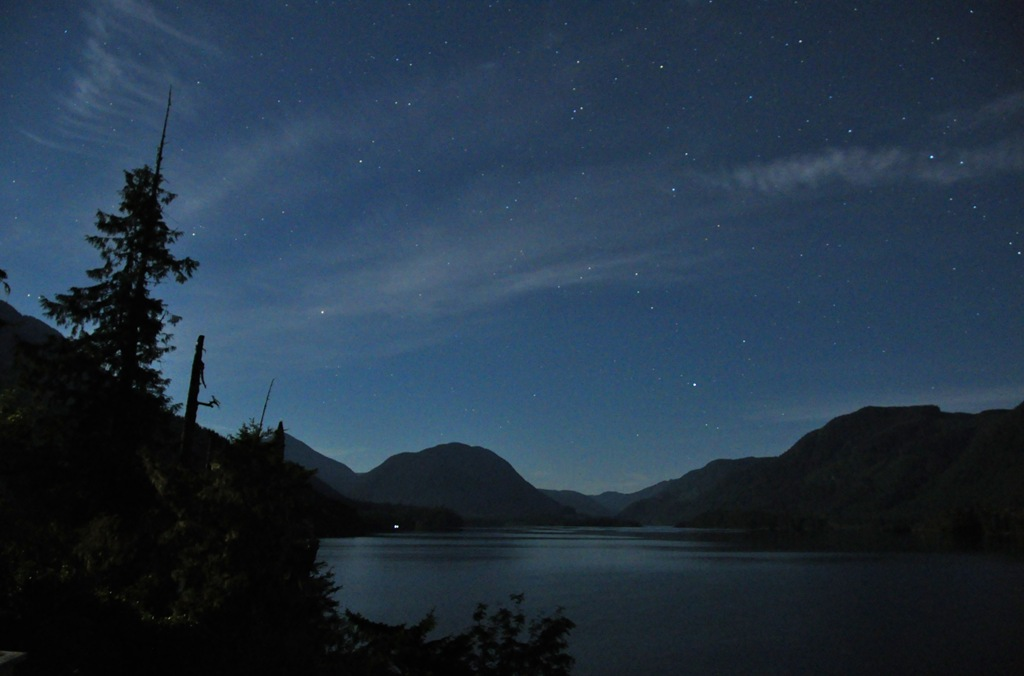 A view from our deck on a star filled nigh in September, 2104 - bruce witzel photo