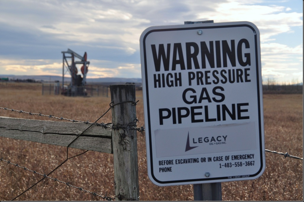 Alberta oil well and gas pipeline - Bruce Witzel photo