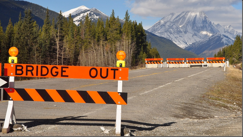 Highway 40 bridge washout from 2013 Calgary floods - Bruce Witzel photo