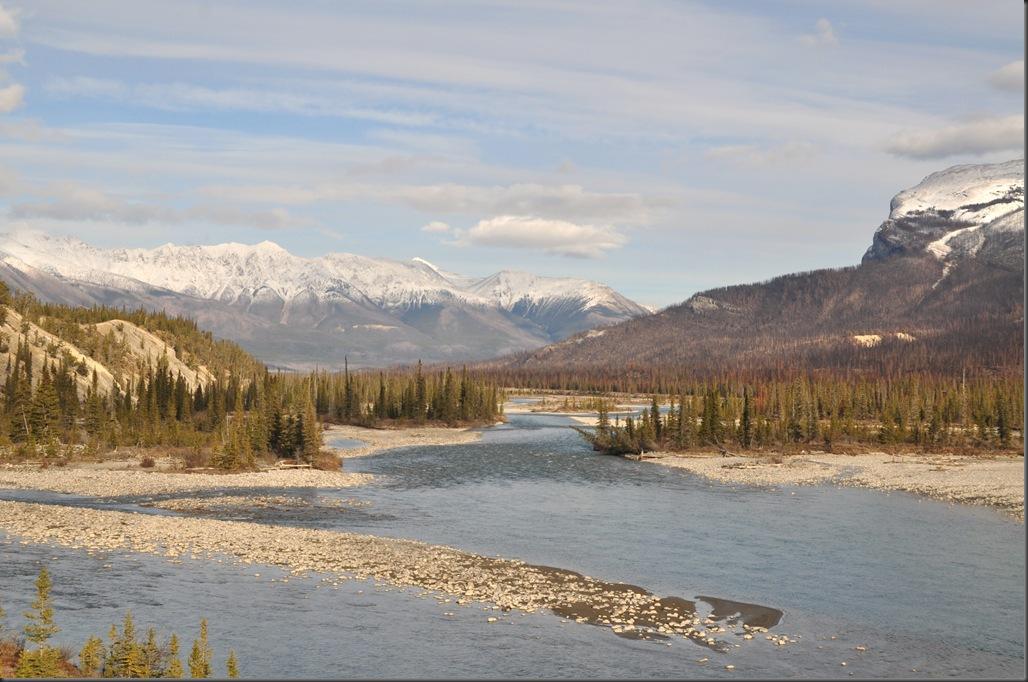 North Saskatchewan River leaving Banff National Park