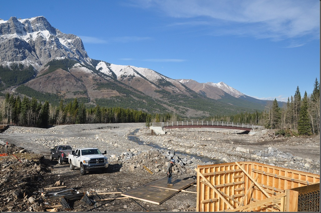 Rebuilding bridge lost to 2013 Calgary Alberta floods - Bruce Witzel photo