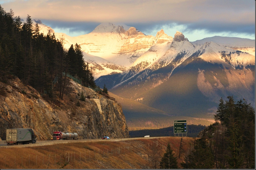 Trans Canada Highway in Banff National Park Oct 27, 2014 - Bruce witzel photo