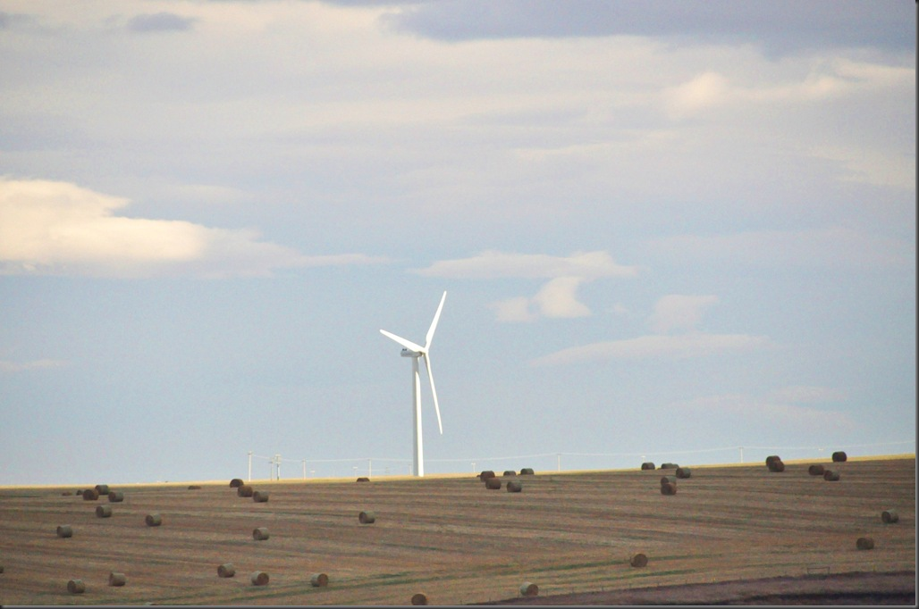 Wind turbine near Pincher Creek Alberta - Bruce Witzel photo