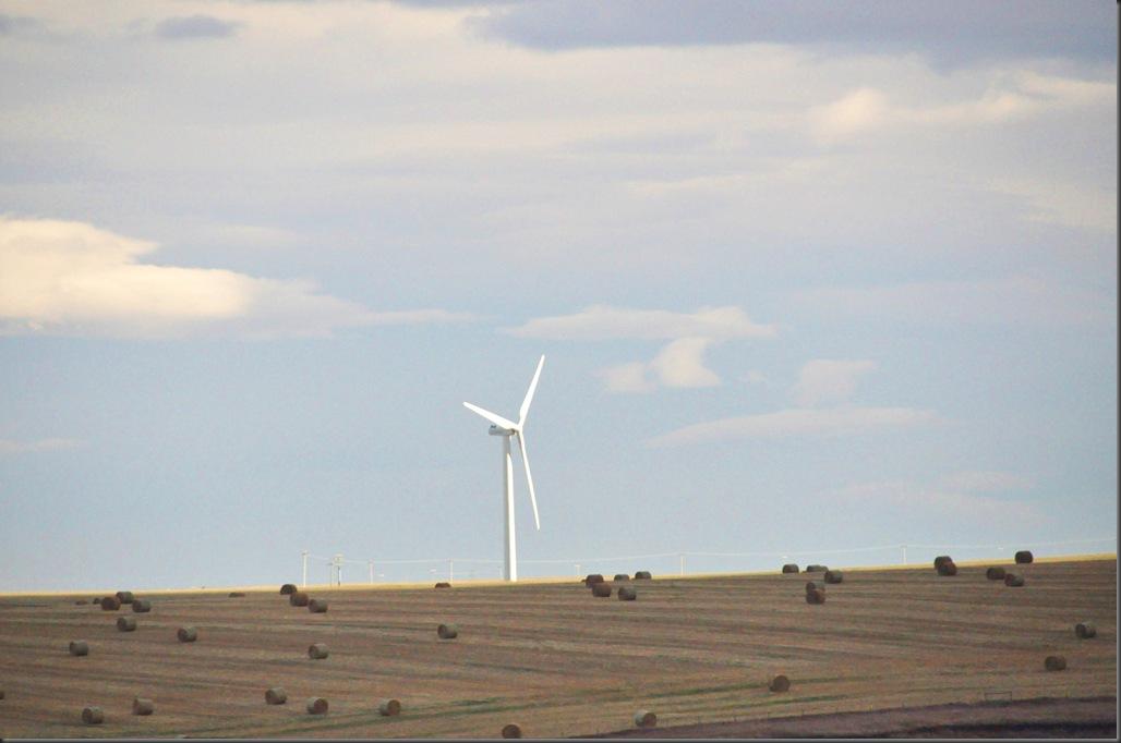 Wind turbine near Pincher Creek Alberta - Bruce Witzel photo
