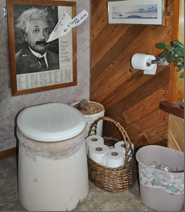 Commode to our waterless composting toilet - bruce witzel photo